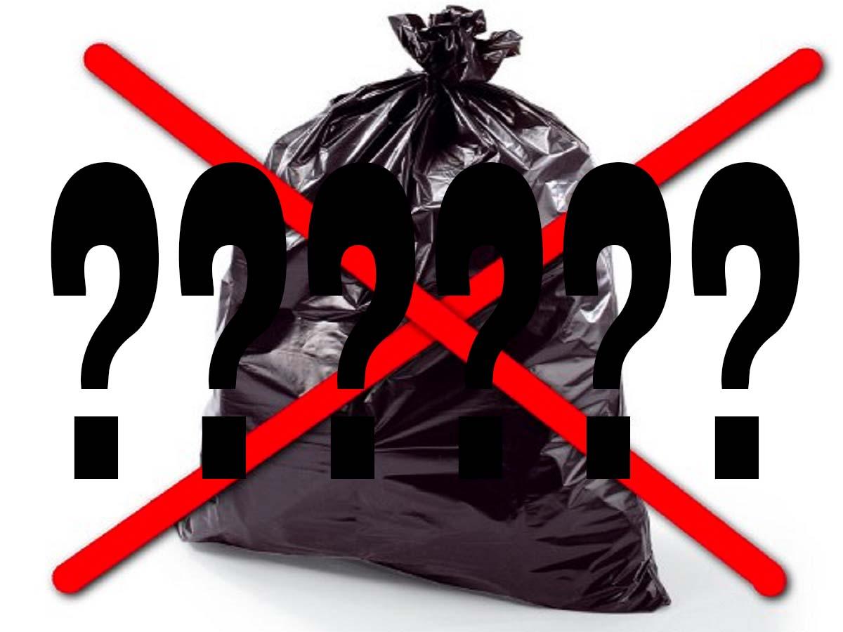 sacco nero della spazzatura